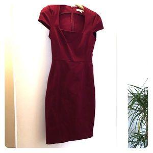 BRepublic fitted burgundy dress